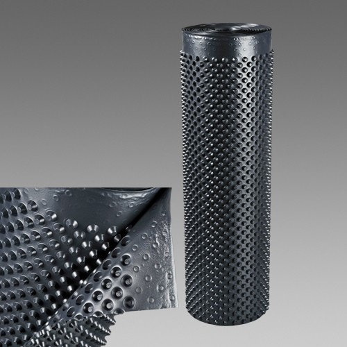 Nopová drenážna fólia 1m, plošná hmotnosť 500g/m2