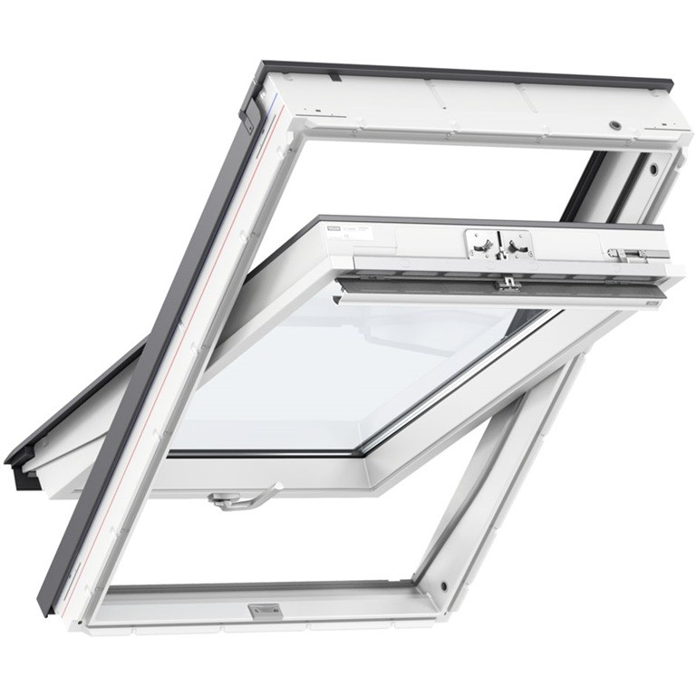 VELUX GLU S10001 66x140cm FK08, poplastované, strešné okno, spodné ovládanie