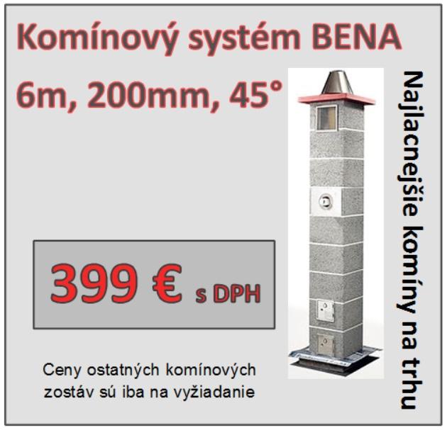 Komínový systém BENA, najlacnejší komín na trhu